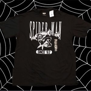 NWT SPIDER-MAN SINCE '62 T-shirt BLACK XXL